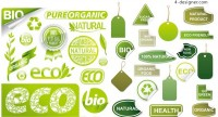 Green eco label vector material