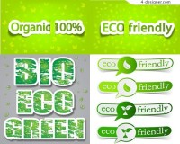 Green low carbon eco label vector material