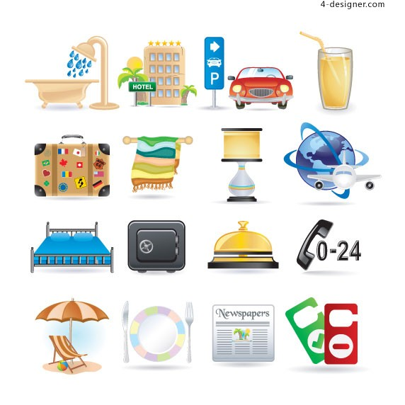 Lifestyle Icons vector material