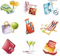 Lifestyle vector icons vector material
