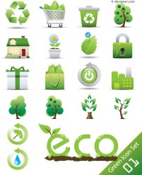 Low carbon green icon vector material