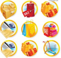 Merchandise discounts icon vector material