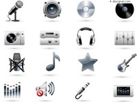 Music related icons