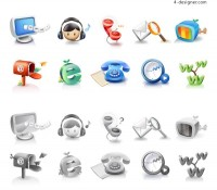 Network technology icon vector material