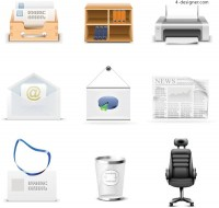 Office class icon vector material