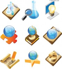 Office experiment icon vector material