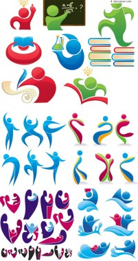 Olympic gymnastics icon vector material