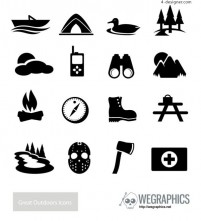 Outdoor icon vector material