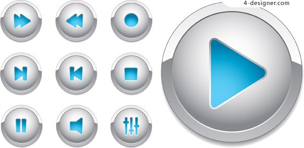 Player stereo button vector material