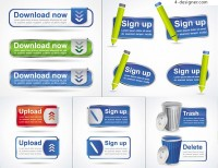Registration page download icon vector material