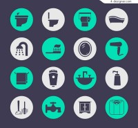 Round bath products icon