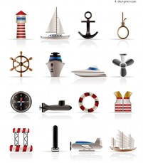 Sailing small icon vector material