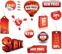 Sale discount icon vector material