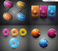 Shiny 3D Icons vector material