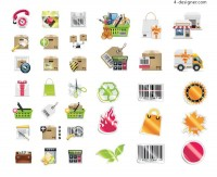 Shop Shopping Decoration vector material