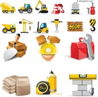 Site construction icon vector material