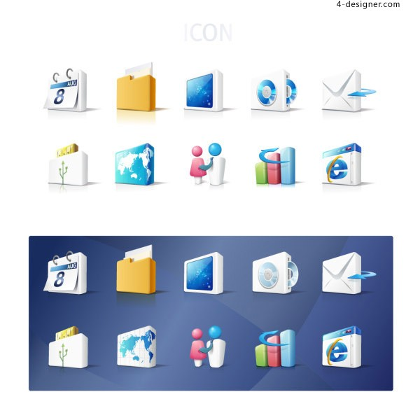 Sophisticated network icon vector material