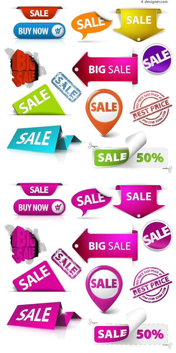 Store sales tag vector material