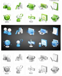 Technology classic icon vector material