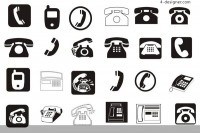 Various phone signs vector material