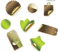 Vector exquisite notes vector material