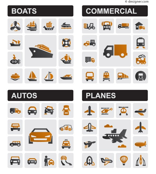 Vehicle Icons vector material