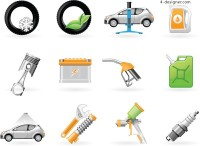 Vehicle maintenance icon vector material