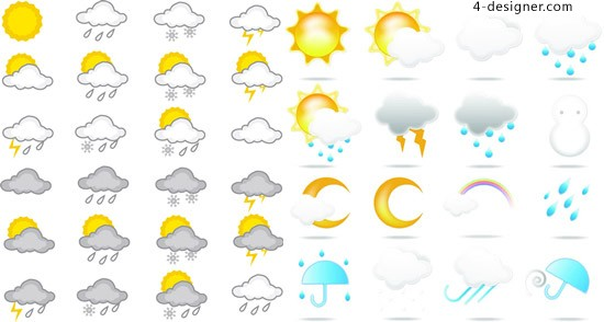 Weather logo vector vector material