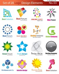 20 Graphic Design vector material