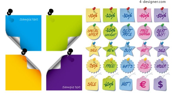 Paper notes icon vector