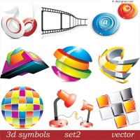 3D icon vector material