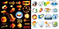 3d style icon vector material