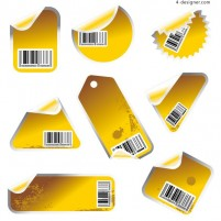 Angular bar code label vector material