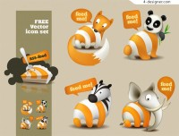 Animal Themes RSS vector material