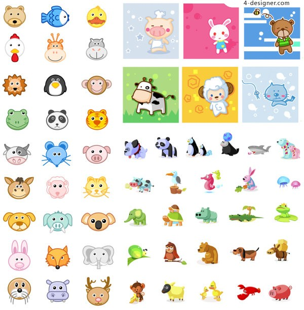 Animal icon vector material
