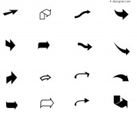 Black and white arrow vector material