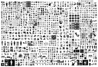 Black and white gray graphic design vector material
