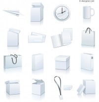 Blank Items icon vector material