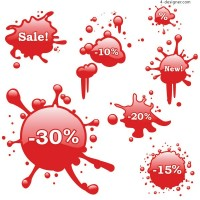 Bleeding discount icon vector material