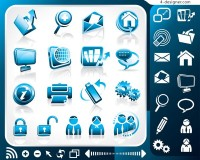 Blue office vector material