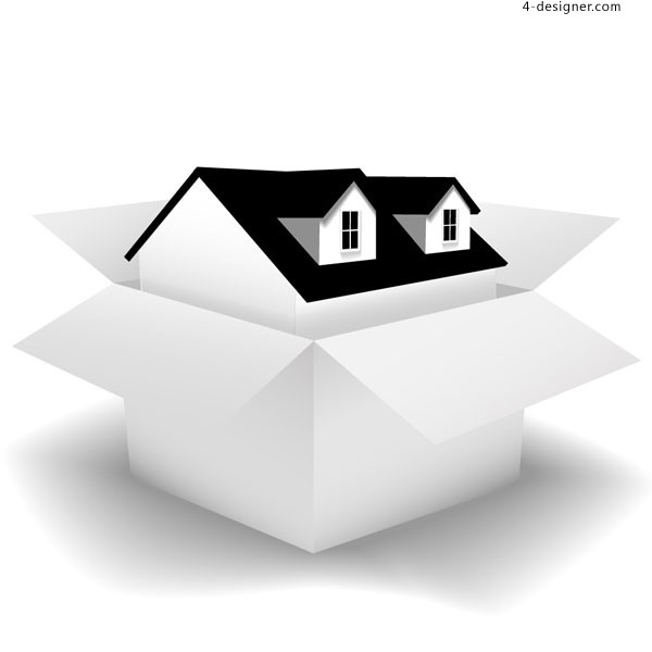 Box house vector material