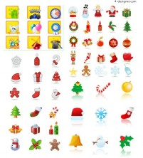 Cartoon Christmas Icons vector material