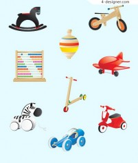 Children s toys icon vector material