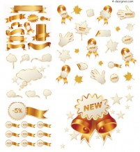 Christmas sales icon vector material
