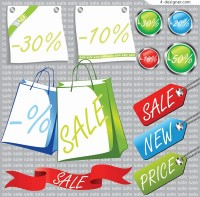 Clearance sales vector material
