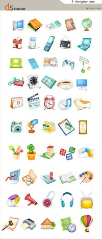 Common items icon vector material
