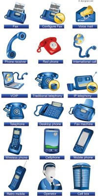 Communication facilities icon vector material