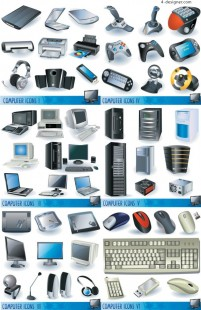 Computer and peripheral hardware vector material