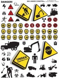 Construction Safety icon vector material