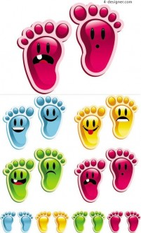 Crystal Footprints vector material